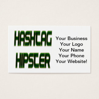 Verde do hipster de Hashtag Cartão De Visita