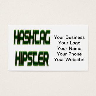 Verde do hipster de Hashtag Cartão De Visitas