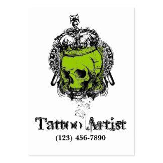 Verde do preto do cartão de visita do artista do