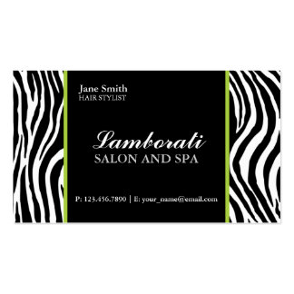 Verde do salão de beleza do cabeleireiro da forma cartão de visita