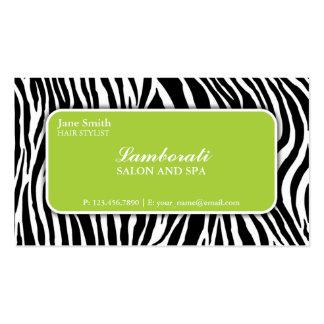 Verde do salão de beleza do cabeleireiro do cabele cartão de visita