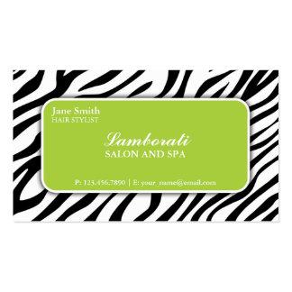 Verde do salão de beleza do cabeleireiro do cartão de visita