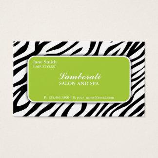 Verde do salão de beleza do cabeleireiro do cartão de visitas