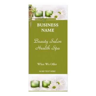 Verde do salão de beleza dos termas da saúde da be 10.16 x 22.86cm panfleto