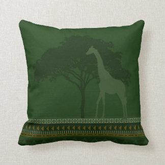 verde do travesseiro do girafa almofada