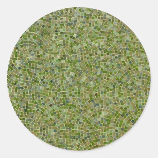 verde dos azulejos adesivo redondo