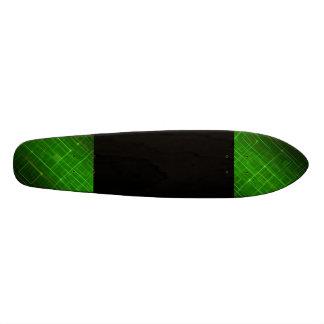 Verde e preto shape de skate 18,1cm