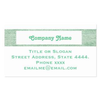Verde elegante profissional cartão de visita