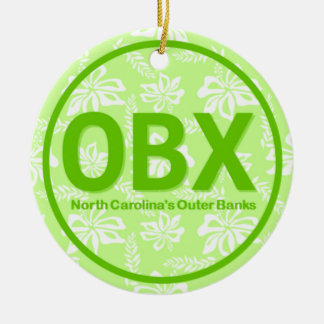 Verde exterior personalizado de North Carolina dos Ornamento De Cerâmica Redondo