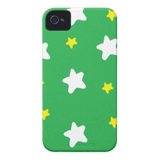 Verde feliz das estrelas capas de iPhone 4 Case-Mate