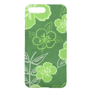 Verde havaiano do teste padrão do hibiscus capa iPhone 7 plus