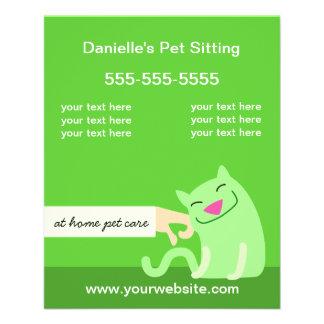 Verde Insecto-Petting do gato dos cuidados dos Flyer 11.43 X 14.22cm