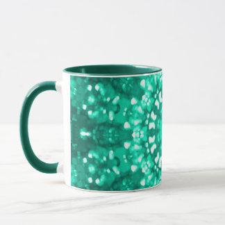 Verde islâmico da arte geométrico caneca