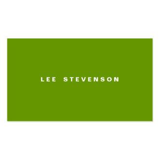 Verde limão moderno de Minimalistic Cartão De Visita