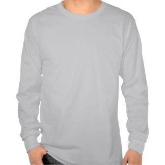 Verde longo da luva da versão da cor de t-shirts