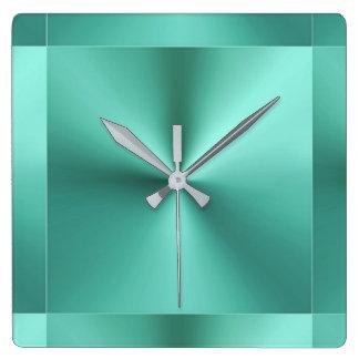 Verde prudente da hortelã metálica moderna relógios de pendurar