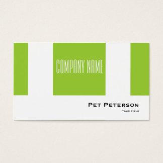 Verde quadrado moderno de Minimalistic Cartão De Visita