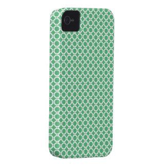 Verde retro das bolhas capa de iPhone 4 Case-Mate