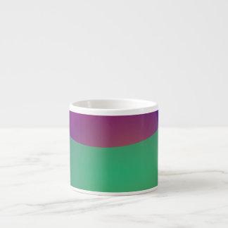 Verde roxo azul xicaras de café expresso