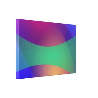 Verde roxo azul impressão em tela canvas