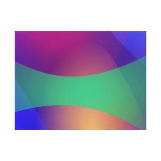 Verde roxo azul impressão de canvas envolvidas
