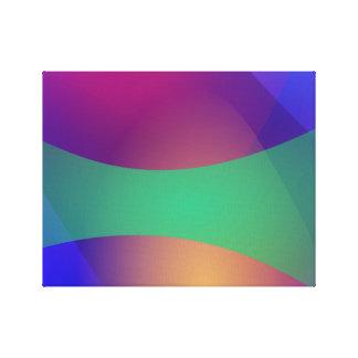 Verde roxo azul impressão de canvas esticada