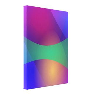 Verde roxo azul impressão de canvas envolvida