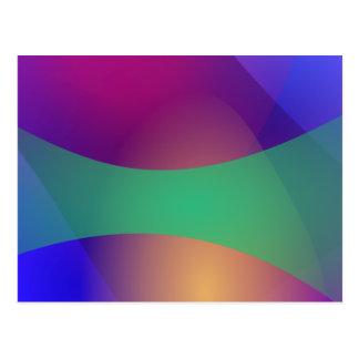 Verde roxo azul cartão postal