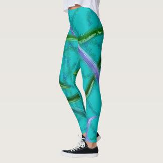 Verde roxo azul colorido do abstrato | de | leggings