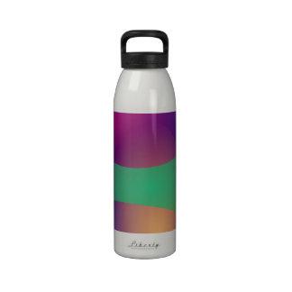 Verde roxo azul garrafa de água esportiva