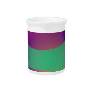 Verde roxo azul jarro para bebida