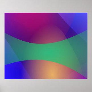 Verde roxo azul impressão