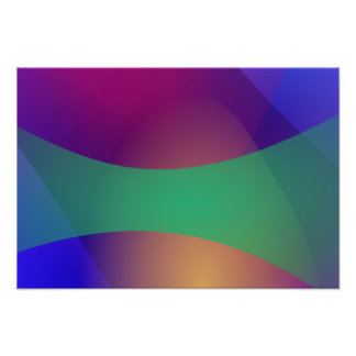 Verde roxo azul posteres