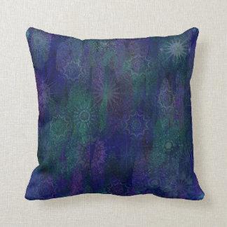 Verde roxo azul travesseiros de decoração