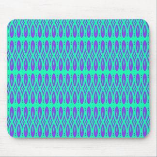 Verde roxo e azul vibrante mouse pad