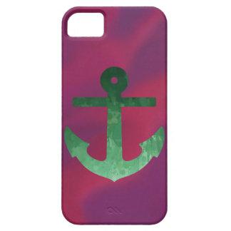 Verdes carmesins da âncora capa para iPhone 5