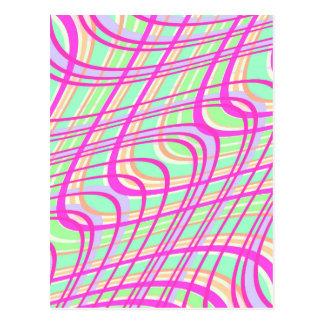 Verificação 2011 de Swirly Cartão Postal