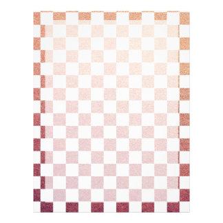Verificação cor-de-rosa e branca do guingão flyer 21.59 x 27.94cm