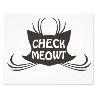 Verifique o Meow do gato do gatinho de Meowt Panfleto Personalizado