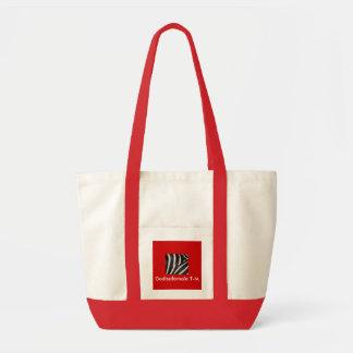 Vermelho à moda surpreendente do saco de Zebrano - Sacola Tote Impulse