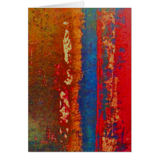 Vermelho, azul, cumprimento abstrato do ouro, cartão