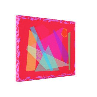 Vermelho azul da pirâmide impressão de canvas envolvidas