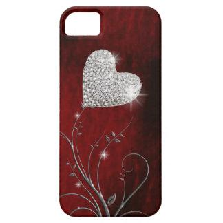 vermelho bonito feminino do coração capa para iPhone 5