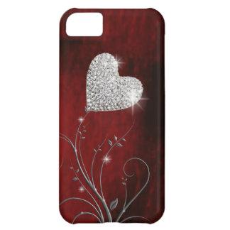 vermelho bonito feminino do coração capa para iPhone 5C