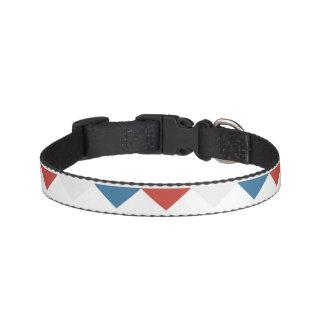 Vermelho, branco & azul correia para cachorros