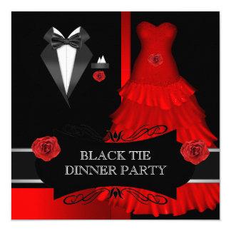 Vermelho branco formal do traje de cerimónia do convite quadrado 13.35 x 13.35cm