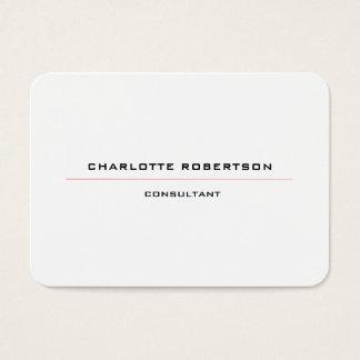 Vermelho branco preto especial minimalista liso cartão de visitas