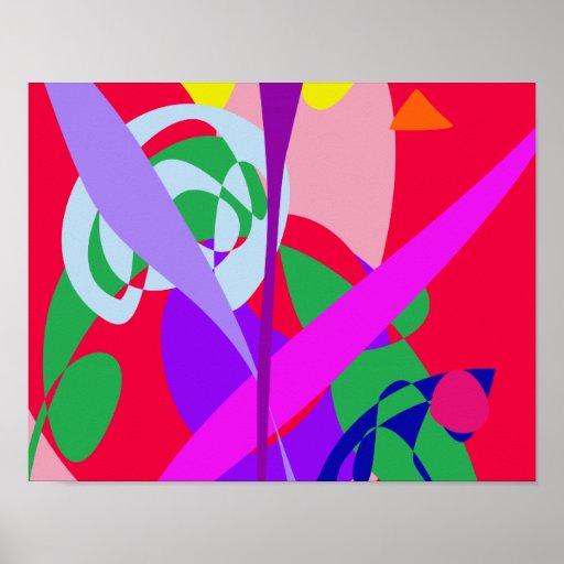 Vermelho corajoso da arte abstracta das cores