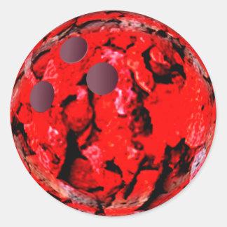 Vermelho da bola de boliche adesivo
