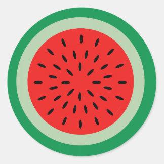 Vermelho da fatia da melancia dos desenhos adesivo